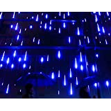 YSIM Meteor Shower Rain Lights,Ultra Bright Romantic Lights for Party, Wedding, Christmas, etc.11.8inch 8 Tubes (Blue)