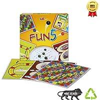 Kids Mandi™ Fun 5 in 1 Board Game | Ludo, Brainvita, Racing, Snake and Ladder and Cricket Kids Set | Best Return Gift for Kids