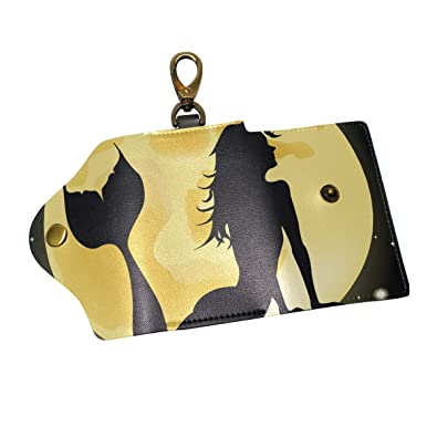 Amazon com: Anmarco Beauty Mermaid In Full Moon PU Leather Car Key