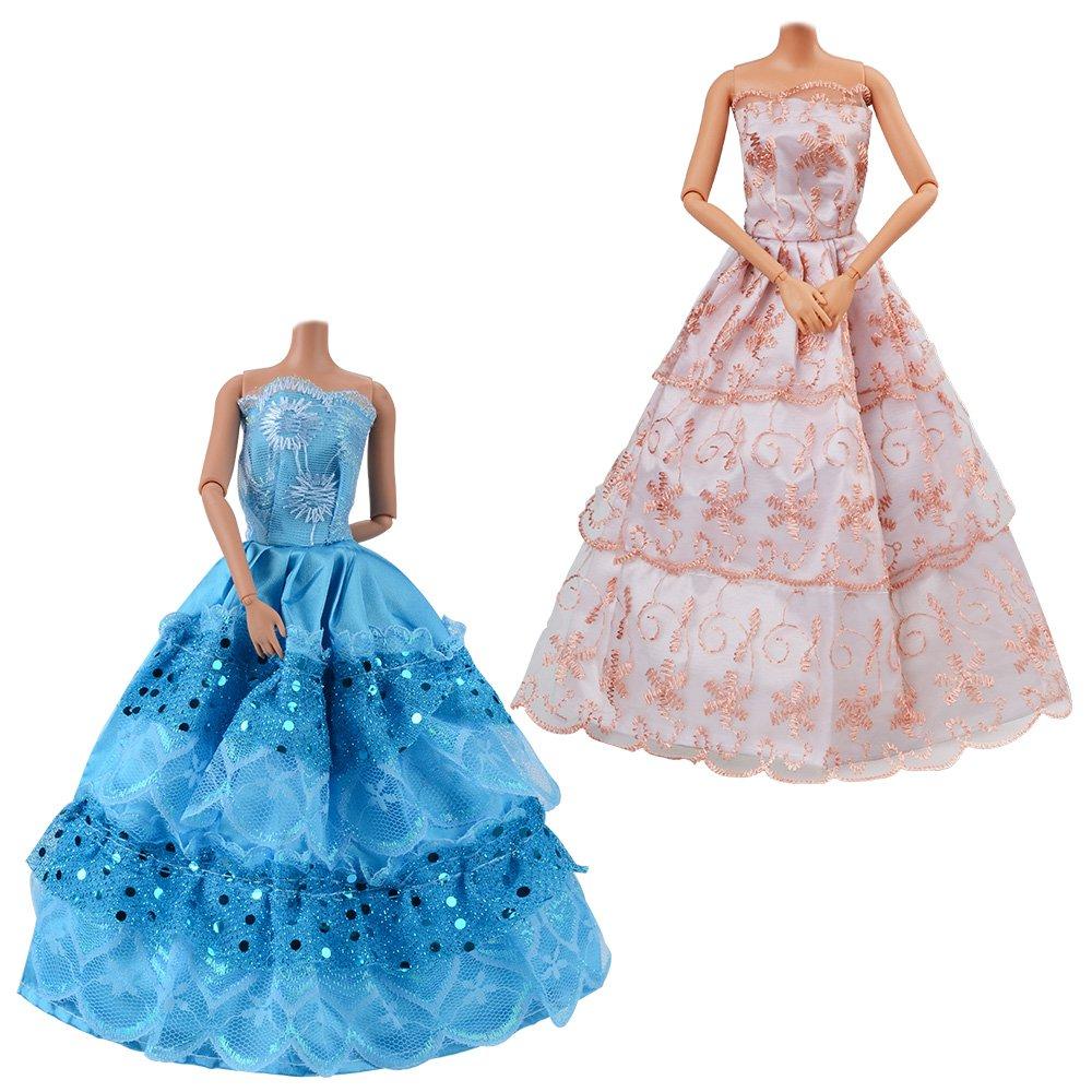 Amazon.es: ASIV 10 Pz Vestido hecho a mano novia fiesta de hilado ...
