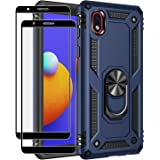 Rebex Compatible with Samsung Galaxy A01 Core Case Cover, Galaxy M01 Core Case,with Tempered Glass Screen Protector [2Pack],T
