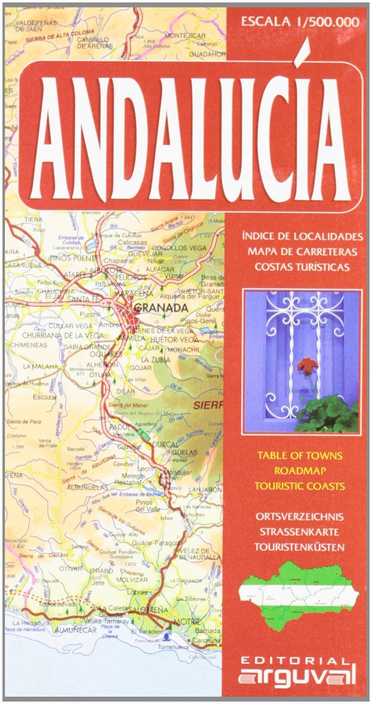MAPA CARRETERAS ANDALUCÍA (MAPAS DE CARRETERAS): Amazon.es: Arguval: Libros