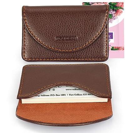YOBANSA PU Titular de la tarjeta de visita, Monedero,Titulares de la tarjeta de crédito,Estuche para tarjeta de visita para hombres y mujeres (café)