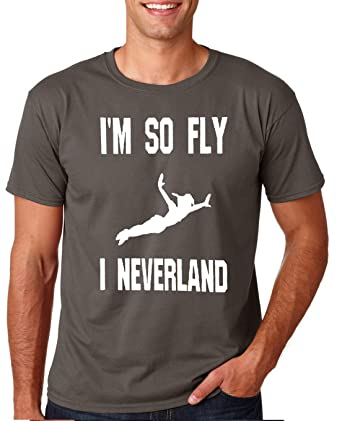 21887a12a Amazon.com: Adult I'm So Fly I Neverland T Shirt: Clothing