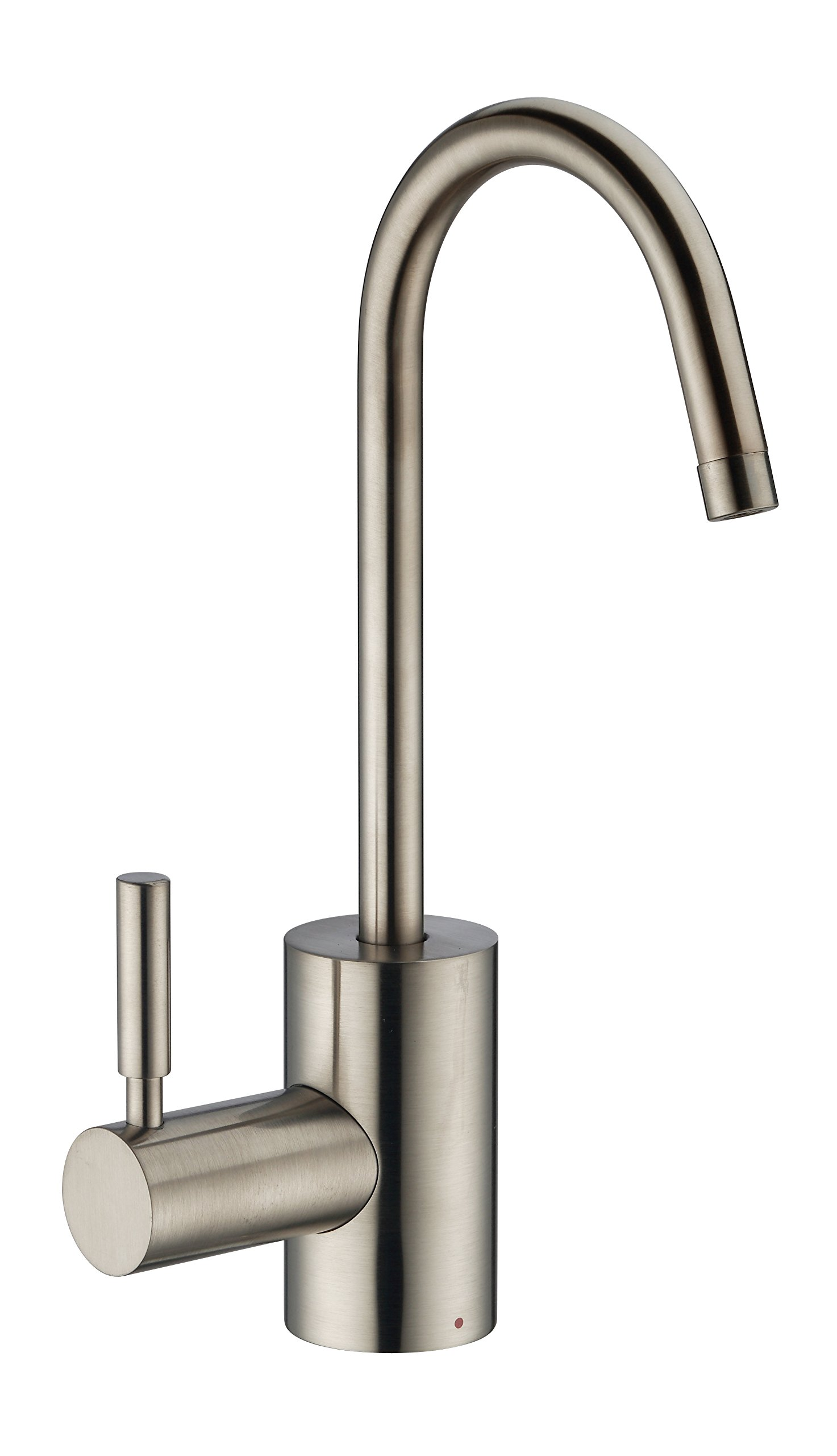 Whitehaus WHFH-H1010-BN Forever Point of Use Instant Hot Water Faucet with Contemporary Spout and Self Closing Handle Brushed Nickel
