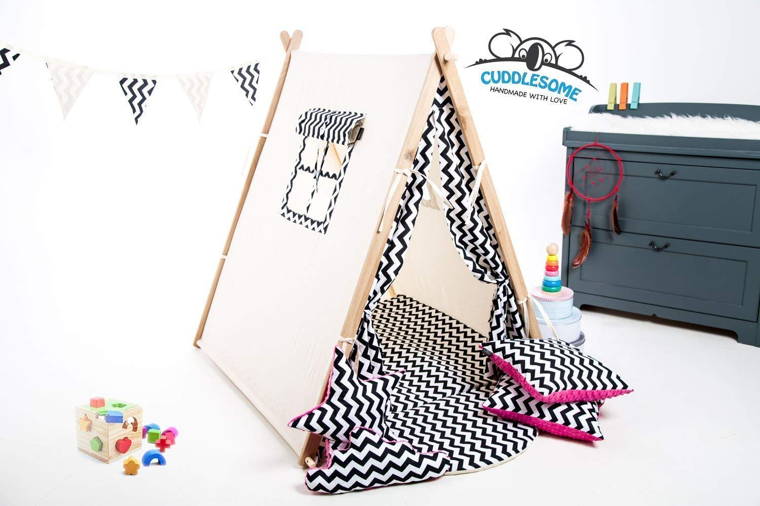 Zigzag teepee tent for children by Cuddlesome