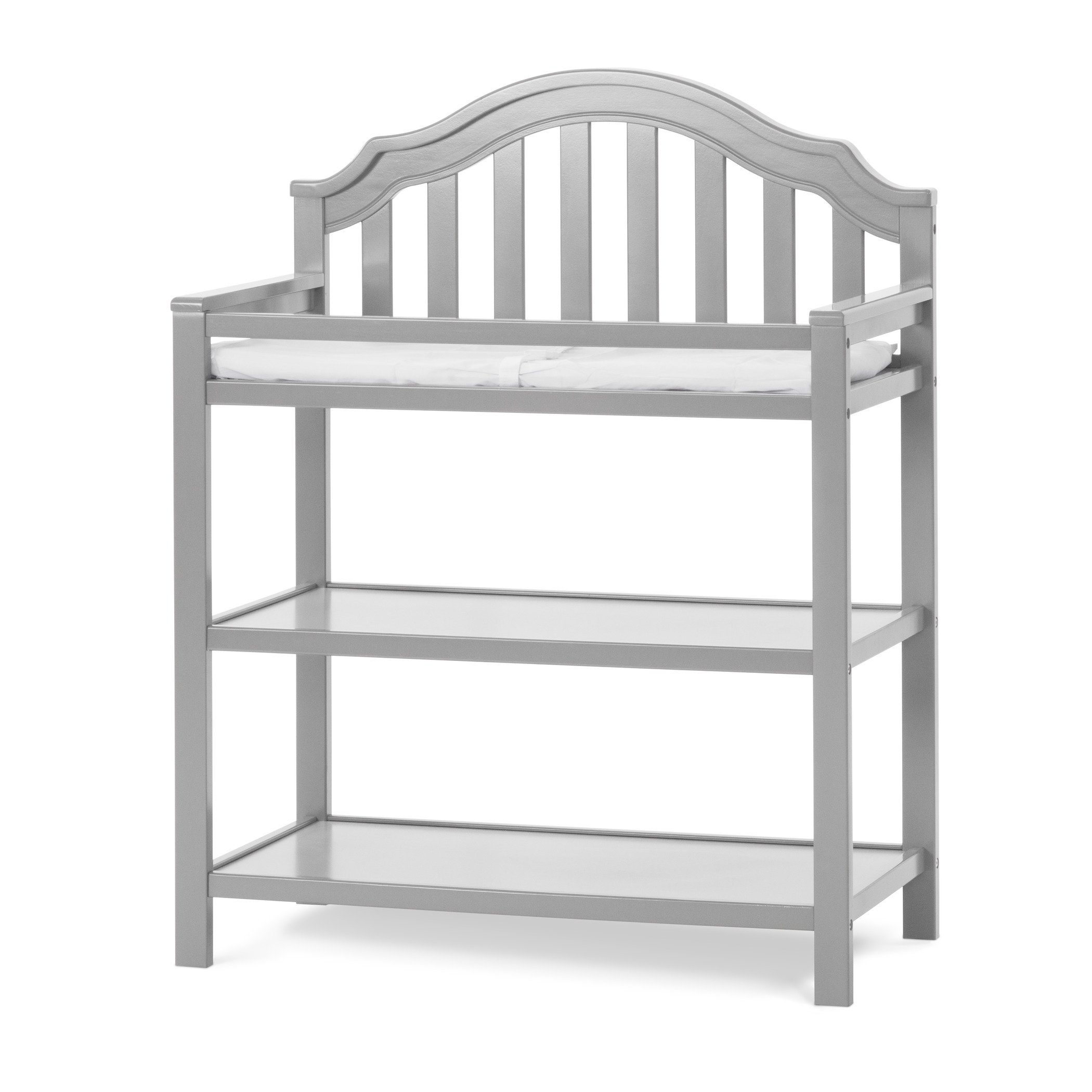 Child Craft Penelope Changing Table with Pad, Cool Gray
