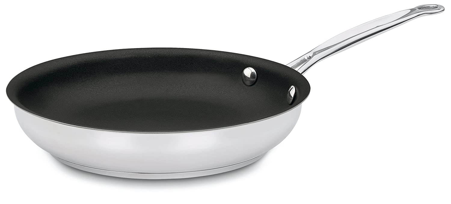 Cuisinart 722-24NS Chef's Classic Nonstick Stainless 10-Inch Open Skillet