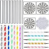 DaBuLiu 25 Pieces Mandala Dotting Tools for Painting Rocks,16 x Acrylic Rods,5 x Double Sided Dotting Tools,3 x Mandala Stencils and Paint Tray