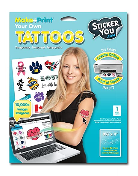 Sticker You Make And Print Your Own Temporary Tattoos One