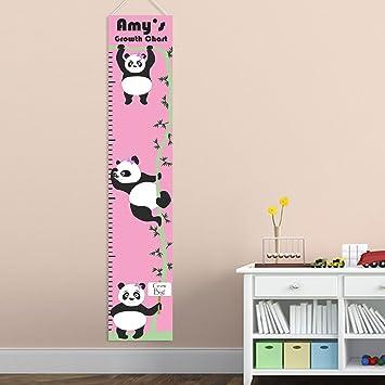 Amazon Personalized Panda Girl Growth Chart Personalized