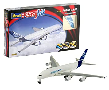 Revell- Maqueta EasyKit Airbus A380 Demonstrator, Escala 1:288 (6640)(06640) Azul, Color Blanco (