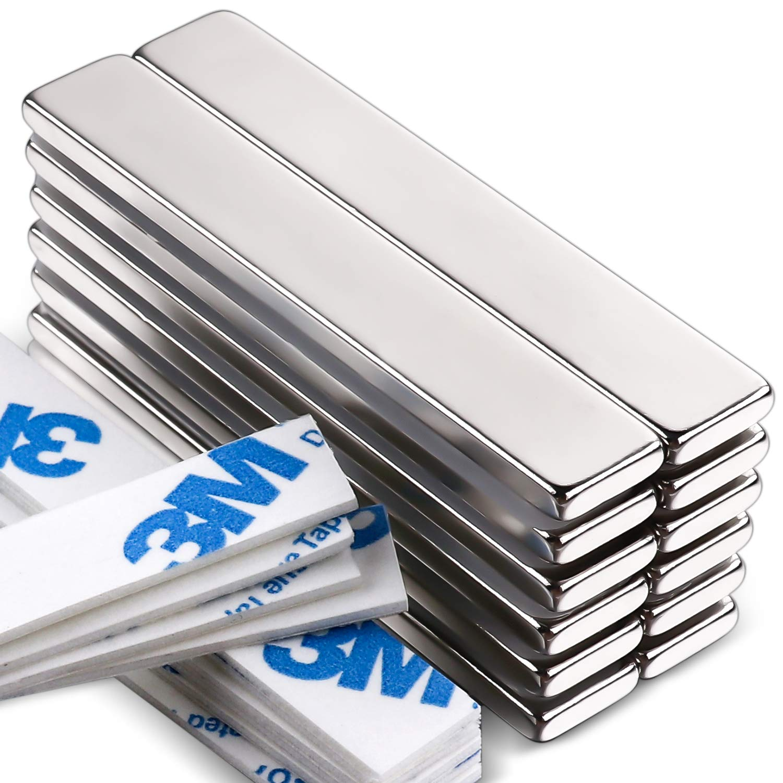 LOVIMAG Powerful Neodymium Bar Magnets, Rare-Earth Metal Neodymium Magnet - 60 x 10 x 3 mm, Pack of 12