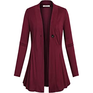 Cardigans for Women Long Sleeve Midweight Swingy Knit