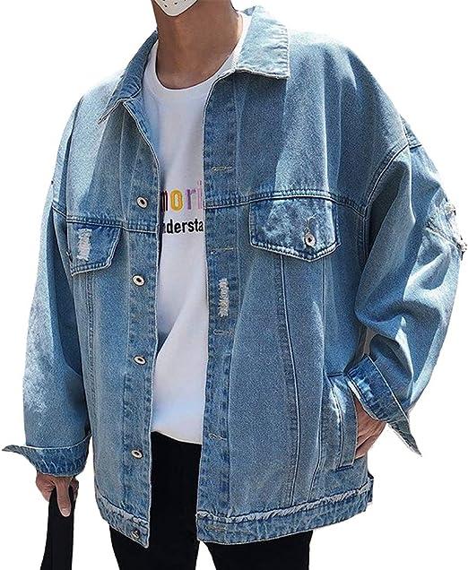 Heaven Days(ヘブンデイズ ) Gジャン デニムジャケット ジージャン ブルゾン BIGシルエット ドロップショルダー ダメージ加工 メンズ 1911C0287