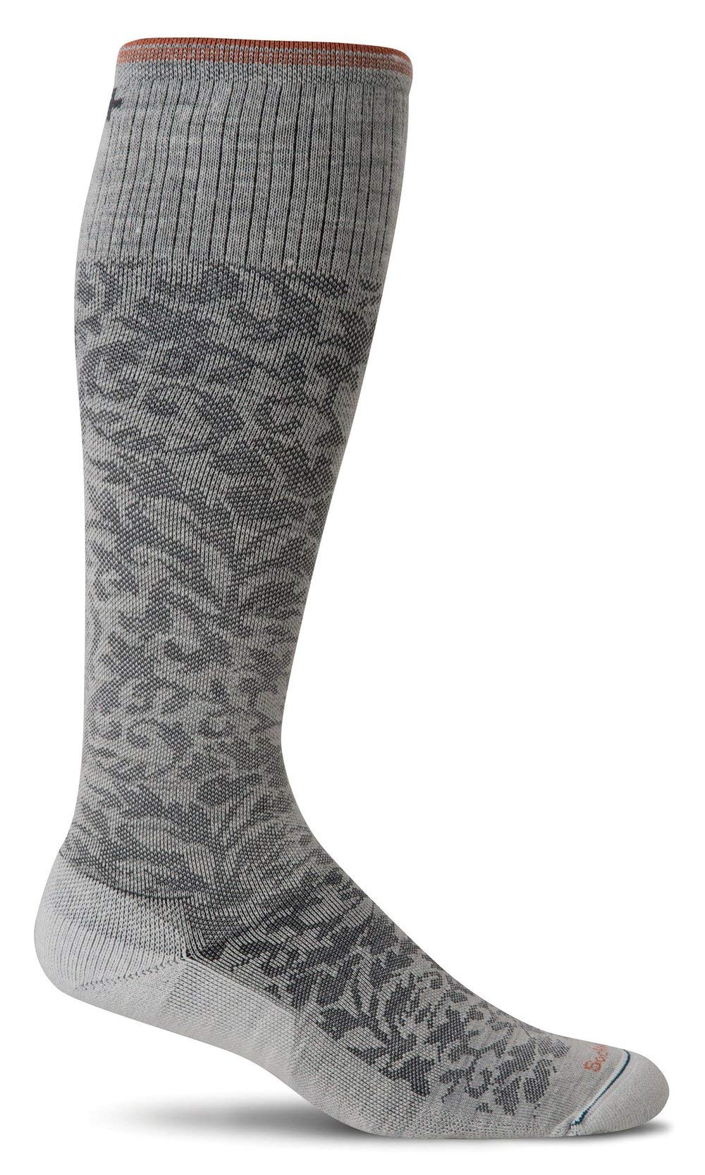 Sockwell Women's Damask Socks, Small/Medium, Oyster