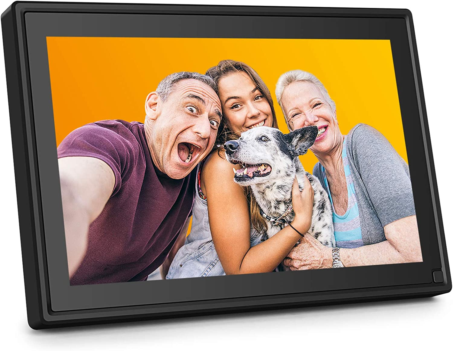 AiJoy 10 Inch Digital Picture Frame with WiFi, 16GB Photo Frame with Touch Screen, HD 1280x800 IPS, Smart Share Photo via Email, APP, Facebook, Twitter, Support 1080P Video/Music, USB, SD Card