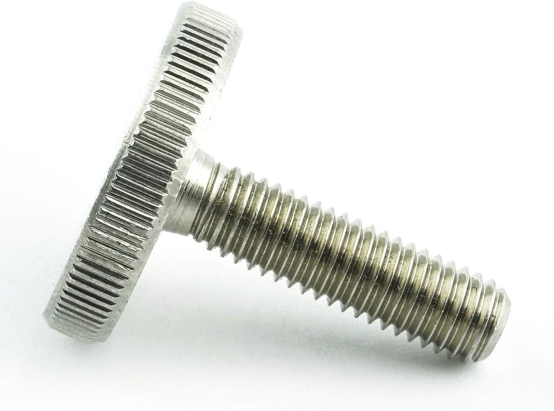 5 St/ück Eisenwaren2000 rostfrei M6 x 30 mm DIN 653 R/ändelschrauben Edelstahl A1 1.4305 VA - neidrige Form