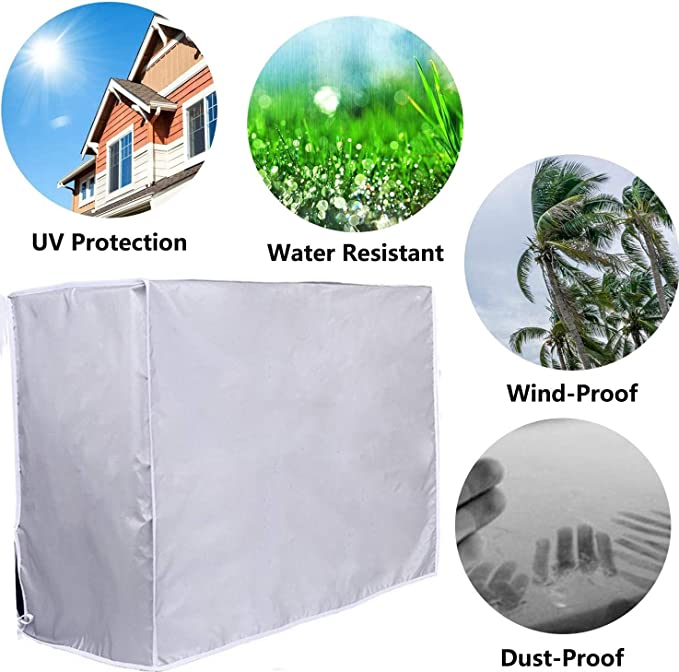Details about  /Outdoor Air Conditioner Cover Anti-Dust Anti-Snow Waterproof for Home