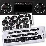 Fullsexy 2 Pack AC Dash Button Sticker Repair Kit