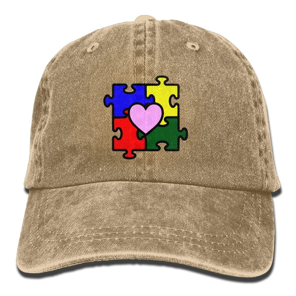 Autism Heart Puzzle Autism Awareness Adult New Style COWBOY HAT