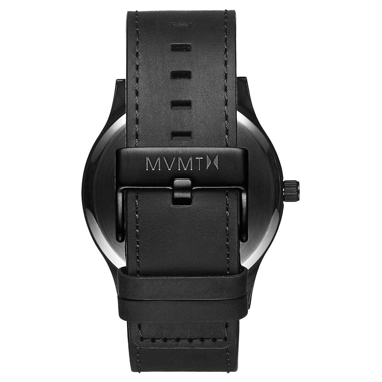 Amazon.com: MVMT Classic Watches   45 MM Mens Analog Minimalist Watch   Black Leather: Mvmt: Watches