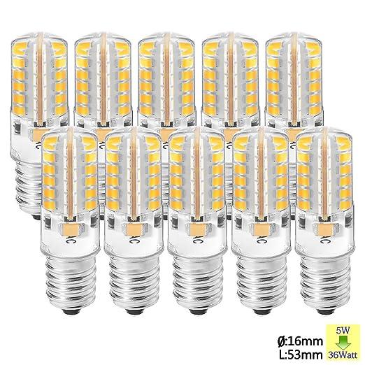 3 opinioni per Sunix 10pcs 5W E14 lampadine LED, 2835 48 SMD LED, 36W alogene lampadine