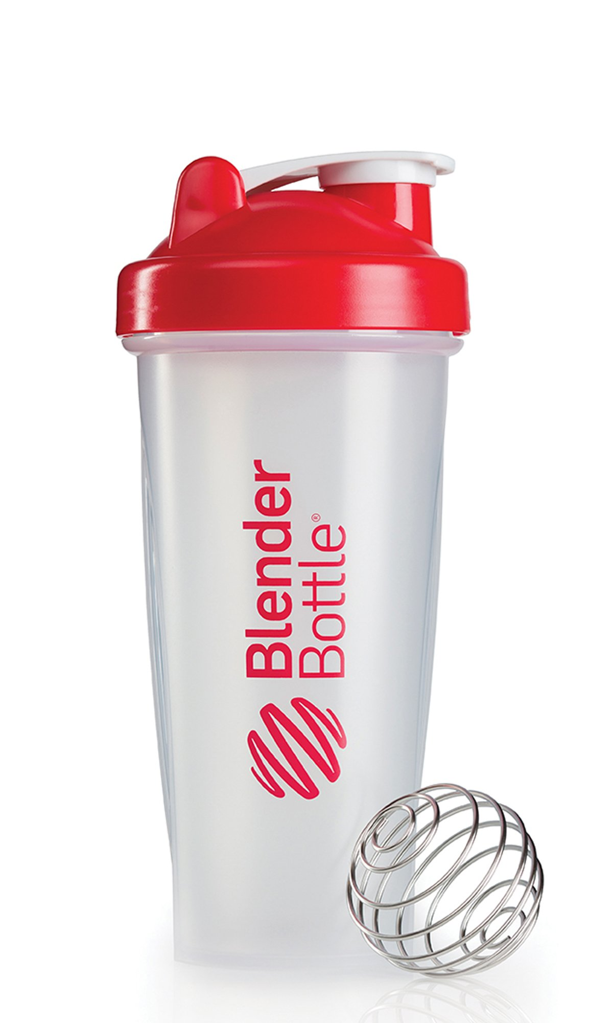 BlenderBottle Classic (Discontinued Style), 28-Ounce, Clear/Red
