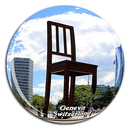Weekino Silla Rota Escultura Ginebra Suiza Imán de Nevera Cristal ...