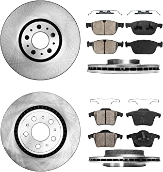 For Volvo XC90 2002-2014 Two Rear Vented 308MM Brake Discs /& Brake Pads Set New