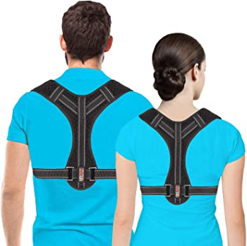 Gearari Upper Back Brace Straightener Posture Corrector for Men and Women