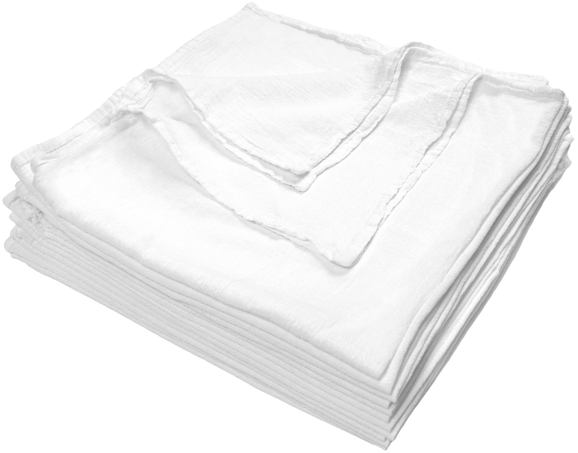 Nouvelle Legende Cotton Fast Dry Flour Sack Towels Commercial Grade 28 X 29 Inches (12 Pack) by Nouvelle Legende