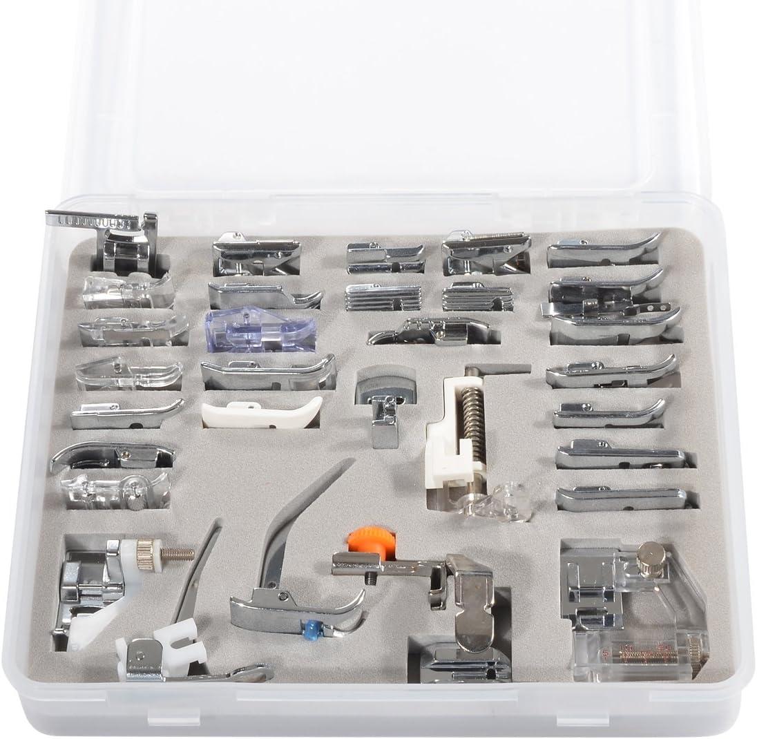 Set de 32 piezas de pies prensores para máquinas de coser ...