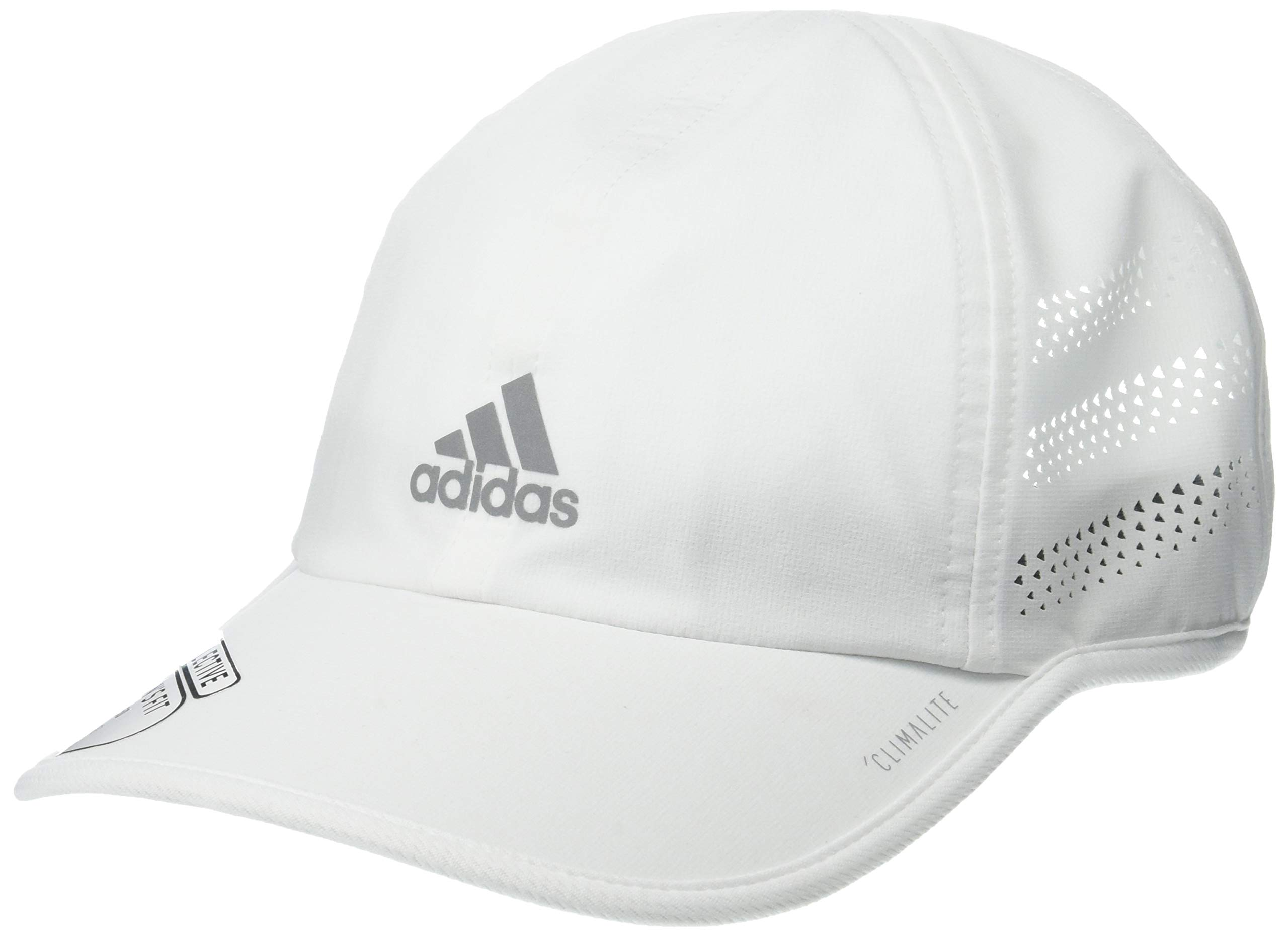 adidas Women's Superlite Pro Relaxed Adjustable Cap, White/Silver Reflective, One Size