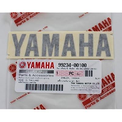 YAMAHA 99234-00100 - Genuine Decal Sticker Emblem Logo Black Self Adhesive Motorcycle/Jet Ski/ATV/Snowmobile: Automotive