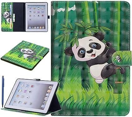 Careynoce iPad 2/3/4 Funda,Panda Dog Butterfly Tiger 3D Efecto Pattern PU Cuero Cover Stand Flip Funda Carcasas para Apple iPad 2 iPad 3 iPad 4 (9.7 pulgada): Amazon ...