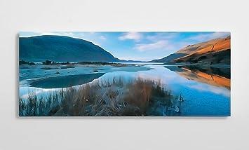 Wast water cumbria 2 canvas wall art print british landscape photography 50cm x 20cm