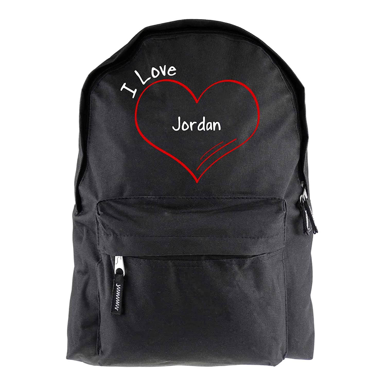 Mochila modern I Love Jordan colour negro: Amazon.es ...