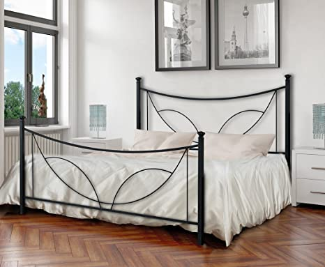 LETTO FERRO BATTUTO TULIPANO MATRIMONIALE: Amazon.it: Casa e cucina