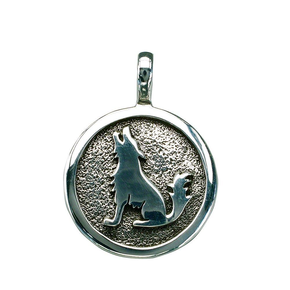 Indianerschmuck Anhä nger Howling Wolf 925 Sterling Silber B003LG5VIQ