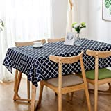 """Lamberia Tablecloth Waterproof Spillproof Polyester Fabric Table Cover for Kitchen Dinning Tabletop Decoration, 60""""x120"""" Oblo"""