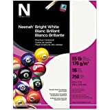 Neenah Card Stock, Letter, Bright White, 65lb, 250 Sheets|1-Pack