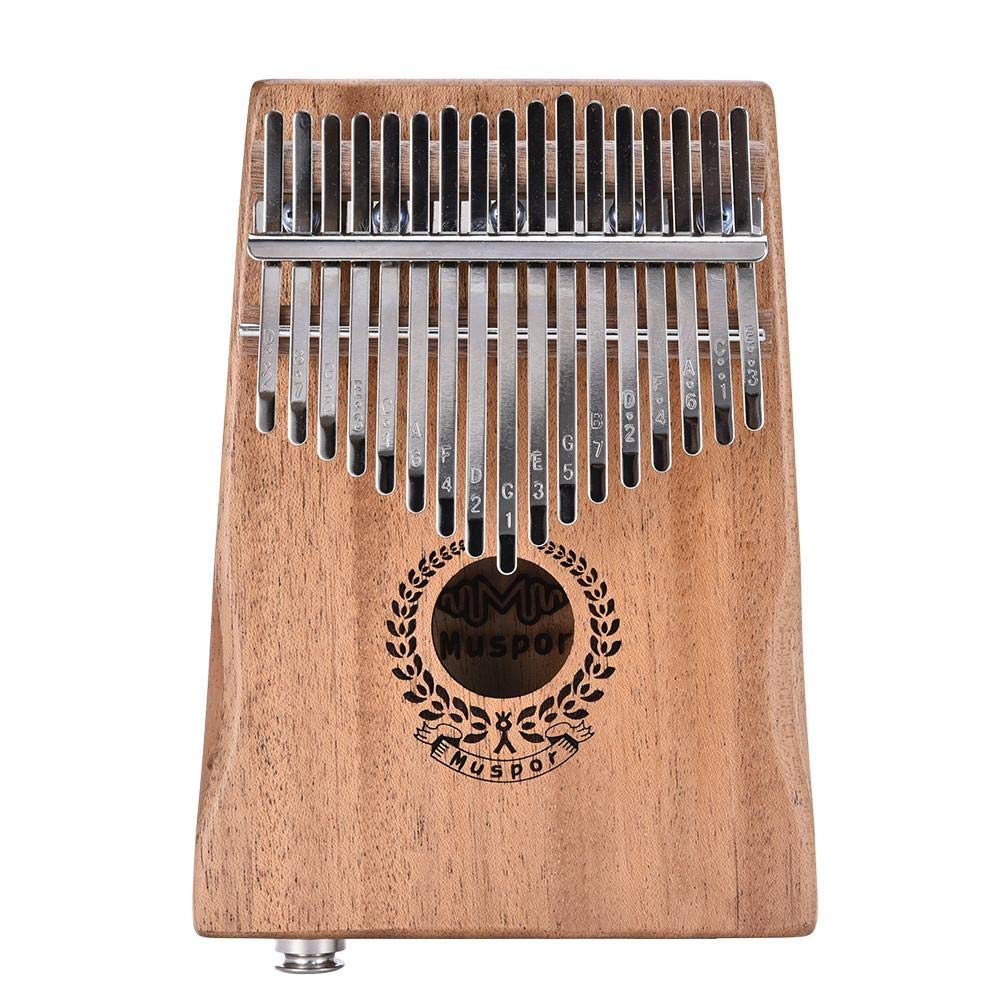 Per 17 Keys Kalimba Portable Thumb Piano Solid Finger Piano Mbira/Marimba Mahogany Body with Tune Hammer&Instruction Beginner Friendly Electric Pickup Bag + Cable by Per (Image #2)