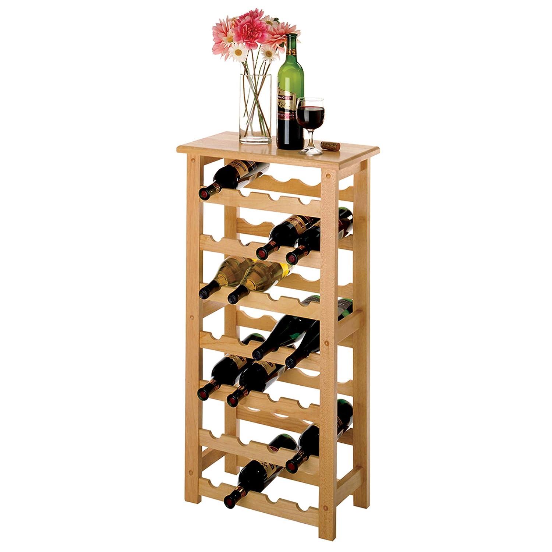 Winsome Wood 28-Bottle Wine Rack