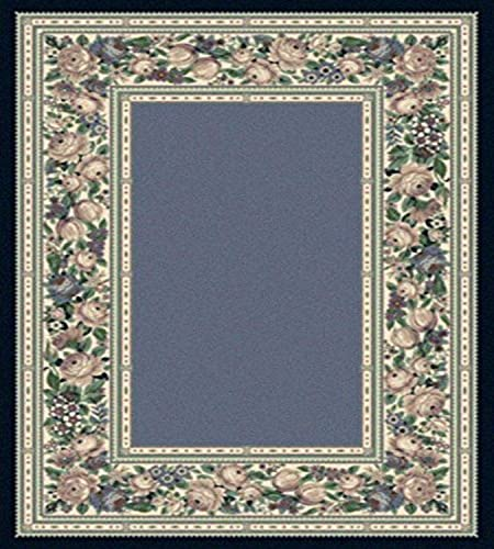 Milliken Innovations Collection English Floral Rug, 10 9 x13 2 , Lapis