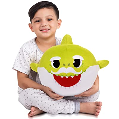 Franco Kids Bedding Soft Plush Cuddle Pillow Buddy, One Size, Baby Shark Lime Green Grandpa: Industrial & Scientific
