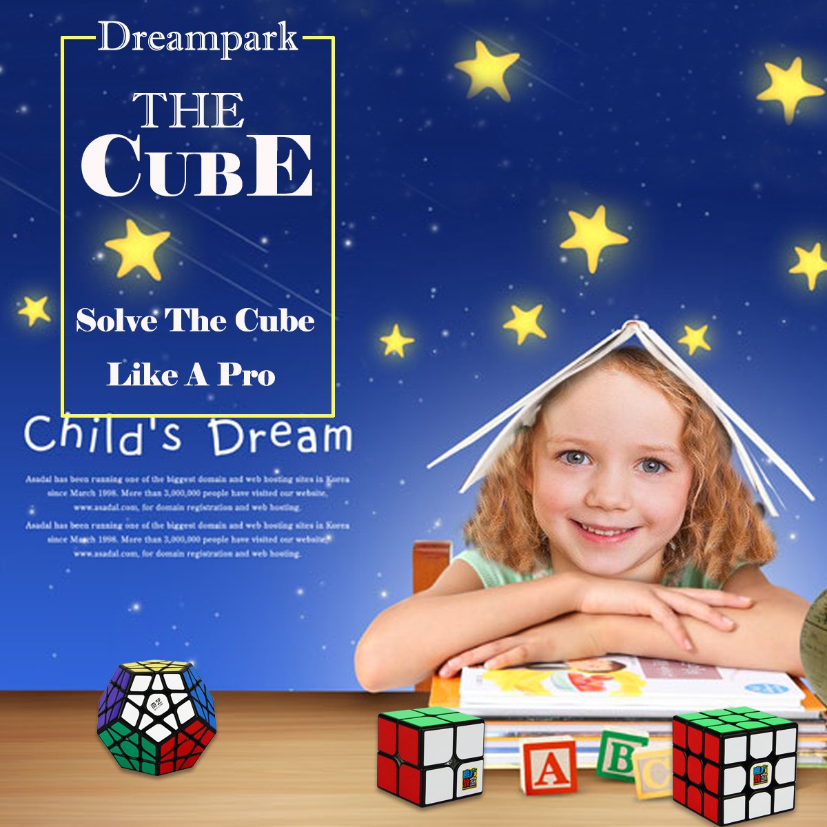 2x2x2 3x3x3 Pyramid Sticker Magic Cube Set Puzzle Cube Toys for Kids and Adults Dreampark Speed Cube Bundle 3 Pack
