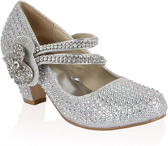 21B Silver Girls Diamante Glitter Kids