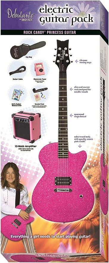 Daisy Rock 14-7011 - Kit de guitarra eléctrica, color rosa: Amazon ...