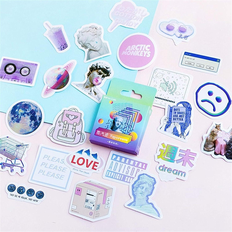 46 Pcs/Pack Creative Cute Vaporwave Mini Paper Sticker Decoration DIY Ablum Diary Scrapbooking Label Sticker Kawaii Stationery
